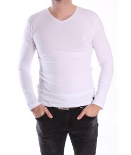 Pánske elastické tričko -MJ-1- biele
