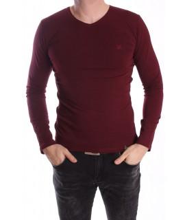 Pánske elastické tričko -MJ-1- bordové