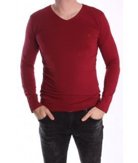 Pánske elastické tričko -MJ-1- červené