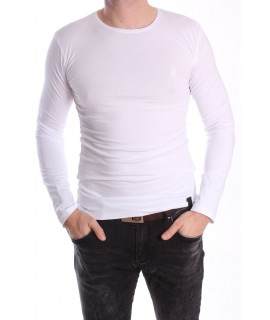 Pánske elastické tričko -MJ-2 - biele