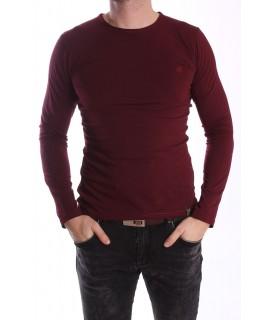 Pánske elastické tričko -MJ-2 - bordové