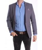 Pánske športovo-elegantné sako MODEL 3458 - tmavomodré