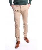 Pánske elastické športové nohavice DOCKOUSE (D2010-22) - béžové