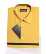 Pánska košeľa s krátkym rukávom GOLDENLAND (v. 170-178 cm) - okrová