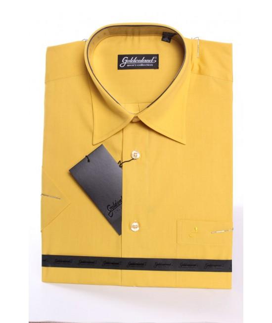Pánska košeľa s krátkym rukávom GOLDENLAND (v. 180-188 cm) - okrová
