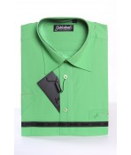 Pánska košeľa s krátkym rukávom GOLDENLAND (v. 170-178 cm) - zelená