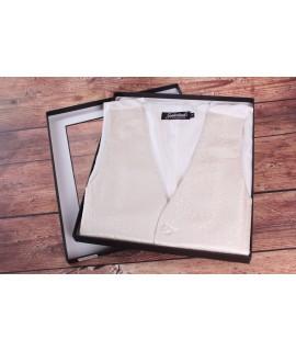 Pánska vesta v darčekovom balení GOLDENLAND (WD-51-3) - maslová