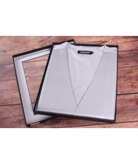Pánska vesta v darčekovom balení GOLDENLAND (WD-51-1) - bledosivá
