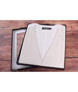 Pánska vesta v darčekovom balení GOLDENLAND (WD-46-3) - maslová