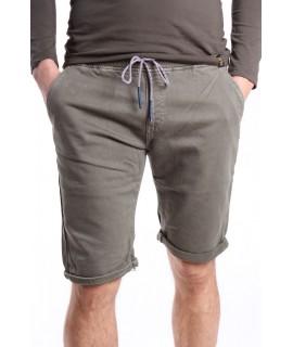 Pánske elastické krátke nohavice na gumu M.SARA (KG3671-32) - zelené