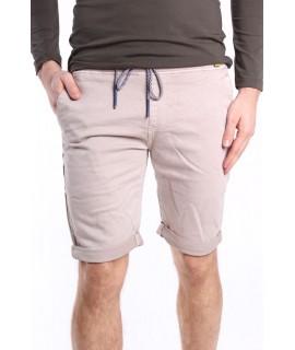 Pánske elastické krátke nohavice na gumu M.SARA (KG3671-59) - sivo-hnedé