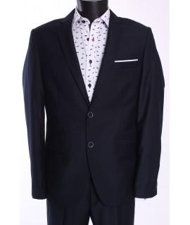 Pánsky oblek BRUNO SLIM FIT (v. 188 cm) - tmavomodrý