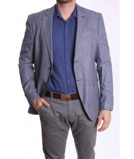Pánske športovo-elegantné sako MODEL 3345 - modro-biele