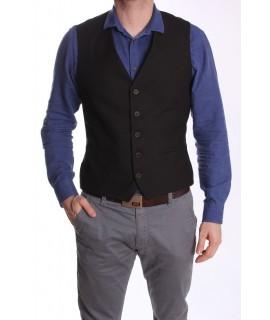 Pánska vesta MODEL 5023 - čierna