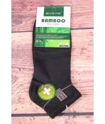 Pánske bambusové členkové ponožky FFD1951 - tmavozelené