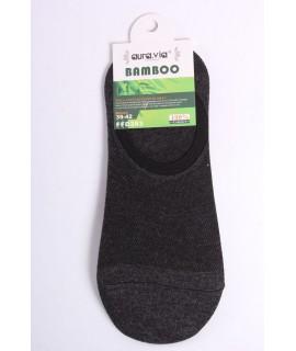Pánske bambusové členkové ponožky FFD383 - tmavosivé