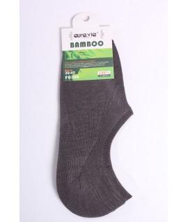 Pánske bambusové členkové ponožky FD308 - sivé