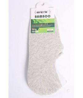 Pánske bambusové členkové ponožky FD308 - sivo-béžové