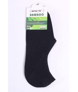 Pánske bambusové členkové ponožky FD308 - tmavomodré