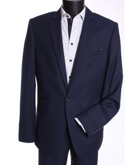 Pánsky oblek MATEO (v. 176 cm) - čierno-modrý