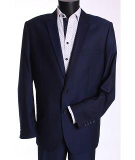 Pánsky oblek KAROL (v. 176 cm) - tmavomodrý