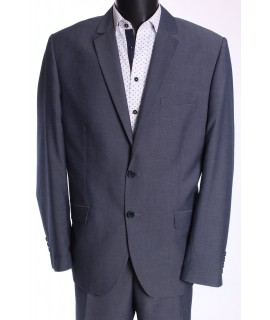 Pánsky oblek HARRY (v. 188 cm) - sivo-modrý