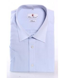 Pánska jemne vzorovaná košeľa PIETRO MONTI SLIM - bledomodrá