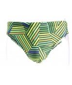 Pánske plavky vzorované B408 - žlto-zelené