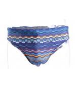 Pánske plavky vzorované B408 - oranžovo-modré