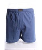 Pánske bavlnené trenky nadmerné hladké HZ002 - modré