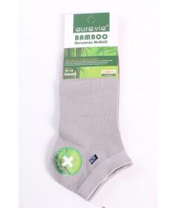 Pánske bambusové ponožky (FFD3367) - bledosivé