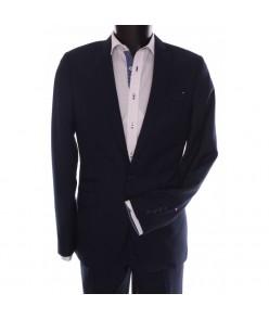 Pánsky oblek ŽABA SYLWETKA B. (v. 176 cm) - čierno-modrý