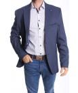 Pánske športovo-elegantné sako nadmerné MODEL 3150 VZOR 2. - modro-biele