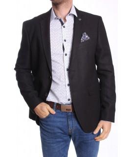 Pánske športovo-elegantné sako MODEL 3292 SLIM FIT - čierne
