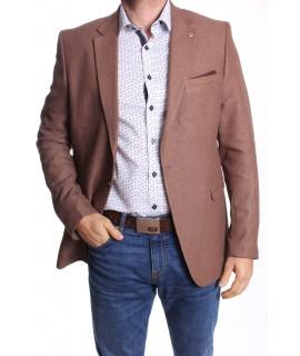 Pánske športovo-elegantné sako MODEL 3292 SLIM FIT - hnedé