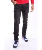 Pánske elastické rifľové nohavice M.SARA SLIM (KA963) - sivo-čierne