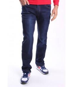 Pánske elastické mierne zateplené rifľové nohavice  NEWSKY (NF991) - modré