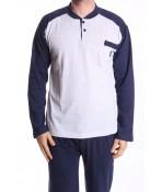 Pánske pyžamo VZOR 0035 - bledosivé