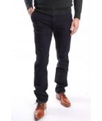 Pánske športovo-elegantné nohavice LONGLI (LF004) - modro-čierne
