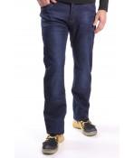 Pánske elastické zateplené rifľové nohavice NEWSKY (NF109) - modré