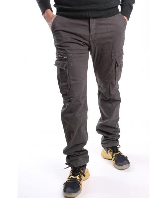 Pánske elastické zateplené ARMY nohavice (8082M-104) LOSHAN - sivé