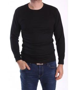 Pánsky nátelník s dlhým rukávom (U30-1) - čierny