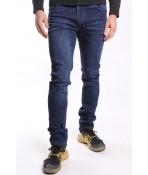 Pánske elastické rifľové nohavice SOLOMAN JEANS (1001) - tmavomodré