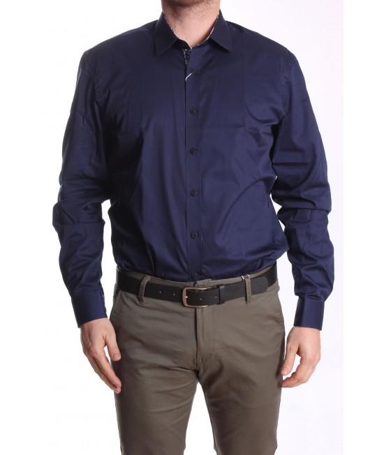 Pánska košeľa PIETRO MONTI CLASSIC (v. 176-182 cm) s dlhým rukávom - tmavomodrá