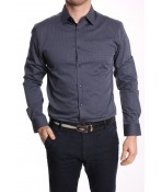 Pánska košeľa SMART FIT SANTINO SARTO (1958) - bodkovaná - tmavomodrá