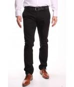 Pánske elastické športovo-elegantné nohavice M.SARA (KA1778-13) - čierne