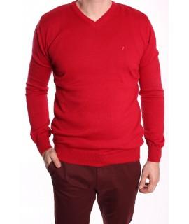 Pánsky pulóver (191405) POOLL PARK - červený