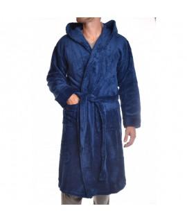 Pánsky župan s kapucňou nadmerný - tyrkysovo-modrý