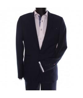 Pánsky oblek FÉLIX SYLWETKA B- (v. 188 cm) - tmavomodro-čierny