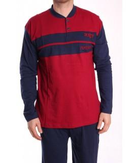 Pánske pyžamo nadmerné VZOR 018 - bordové